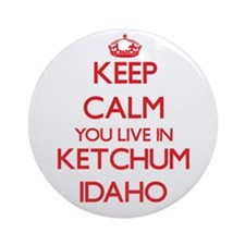 Keep calm you live in Ketchum Ida Ornament (Round)