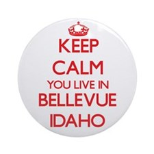 Keep calm you live in Bellevue Id Ornament (Round)