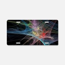 Abstract Art Rainbow Ice Aluminum License Plate