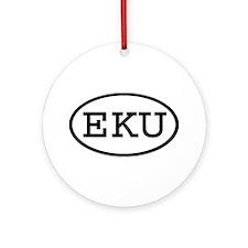 EKU Oval Ornament (Round)