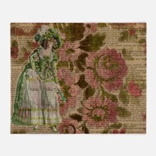 Cute Marie antionette Throw Blanket