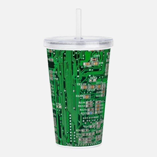 Circuit Board Acrylic Double-wall Tumbler