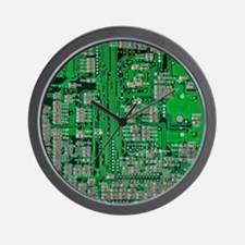 Circuit Board Wall Clock