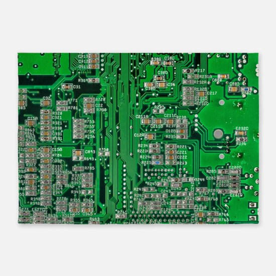 Circuit Board 5'x7'Area Rug