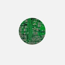 Circuit Board Mini Button (10 pack)