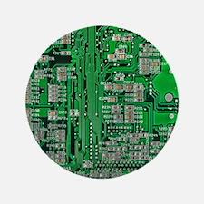 """Circuit Board 3.5"""" Button"""