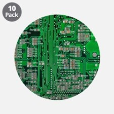 "Circuit Board 3.5"" Button (10 pack)"