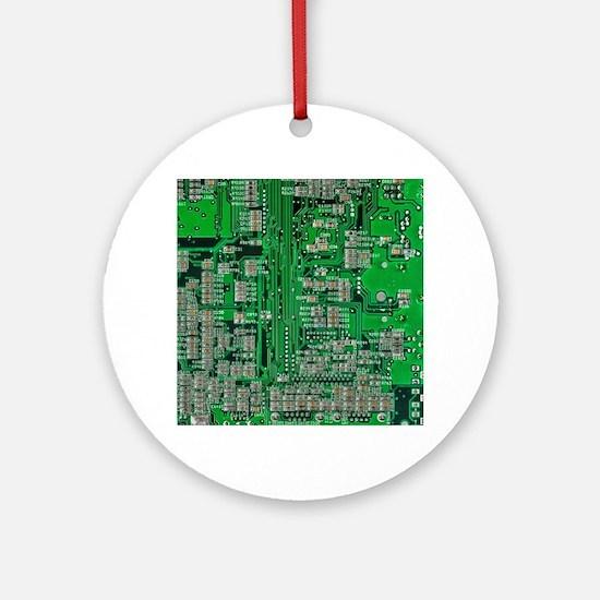 Circuit Board Ornament (Round)