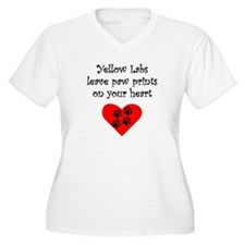 Yellow Labs Leave Paw Prints On Your Heart Plus Si