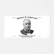 Ingersoll: Hands Aluminum License Plate