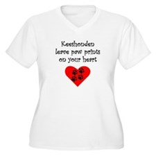 Keeshonden Leave Paw Prints On Your Heart Plus Siz