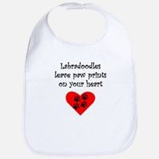 Labradoodles Leave Paw Prints On Your Heart Bib