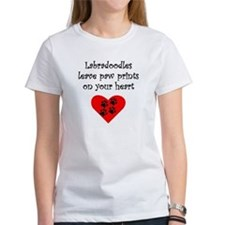 Labradoodles Leave Paw Prints On Your Heart T-Shir