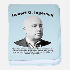 Ingersoll: God baby blanket