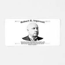 Ingersoll: God Aluminum License Plate