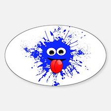Blue Splat Dude Decal