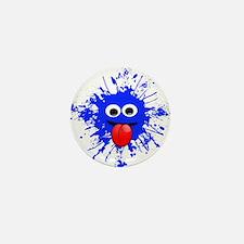 Blue Splat Dude Mini Button