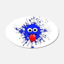 Blue Splat Dude Wall Decal