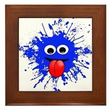 Blue Splat Dude Framed Tile