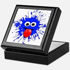 Blue Splat Dude Keepsake Box
