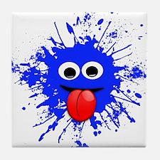 Blue Splat Dude Tile Coaster