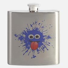 Blue Splat Dude Flask