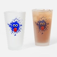Blue Splat Dude Drinking Glass