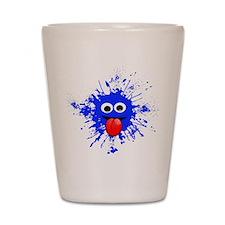 Blue Splat Dude Shot Glass