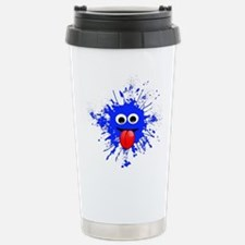 Blue Splat Dude Travel Mug