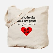 Goldendoodles Leave Paw Prints On Your Heart Tote
