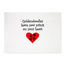 Goldendoodles Leave Paw Prints On Your Heart 5'x7'