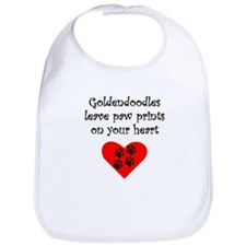Goldendoodles Leave Paw Prints On Your Heart Bib