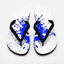 Blue Splat Dude Flip Flops