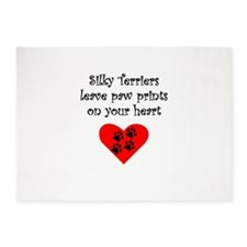 Silky Terriers Leave Paw Prints On Your Heart 5'x7