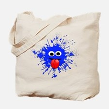 Blue Splat Dude Tote Bag