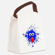 Blue Splat Dude Canvas Lunch Bag