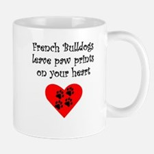 French Bulldogs Leave Paw Prints On Your Heart Mug