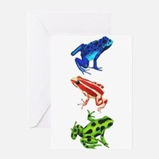 Dart Frogs Greeting Cards