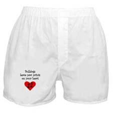 Bulldogs Leave Paw Prints On Your Heart Boxer Shor
