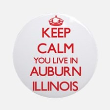 Keep calm you live in Auburn Illi Ornament (Round)
