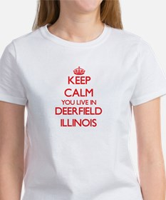 Keep calm you live in Deerfield Illinois T-Shirt
