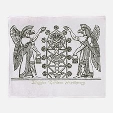 Babylonian Tree of Life and Enlightenment Throw Bl