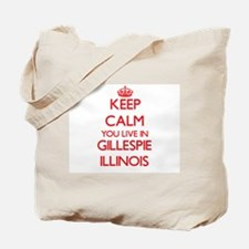 Keep calm you live in Gillespie Illinois Tote Bag