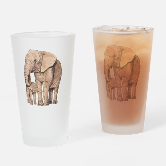 Mother and Child Drinking Glass