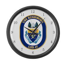 USS Rushmore LSD-47 Large Wall Clock