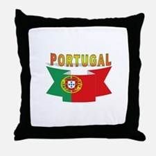 Portuguese ribbon Throw Pillow