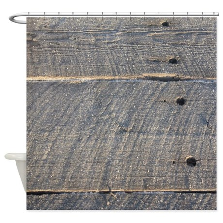 Rustic barn wood shower curtain by listing store 30702168