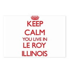 Keep calm you live in Le Postcards (Package of 8)