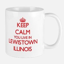Keep calm you live in Lewistown Illinois Mugs