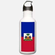 Haitian flag Water Bottle